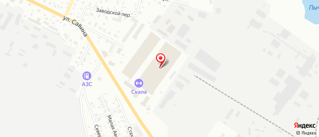 Карта расположения пункта доставки DPD Pickup в городе Сыктывкар