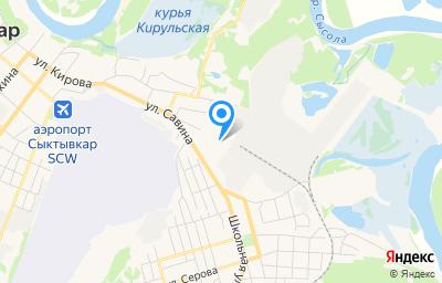 Местоположение на карте пункта техосмотра по адресу г Сыктывкар, ул Савина, д 81