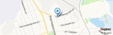 Территориальный центр социального обслуживания населения г. Сыктывкара на карте Сыктывкара