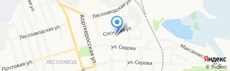 Баня №9 на карте Сыктывкара