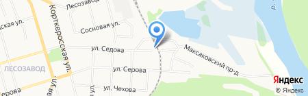 Тимак на карте Сыктывкара