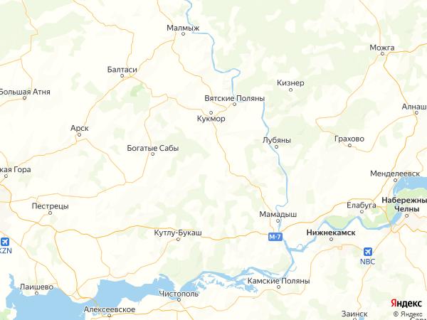 деревня Верхний Арбаш на карте
