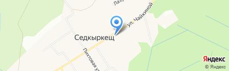 Рябинка на карте Сыктывкара