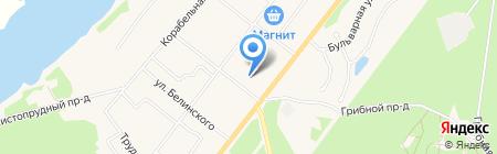 Магазин бытовой химии на Судостроительной на карте Сыктывкара