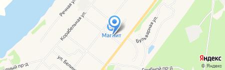 Добрячок на карте Сыктывкара