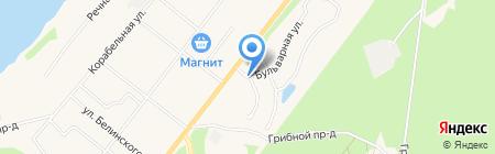 Автомойка на Бульварной на карте Сыктывкара