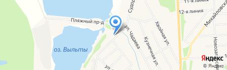 Пятачок на карте Сыктывкара