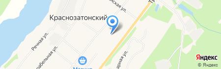 Краснозатонский на карте Сыктывкара