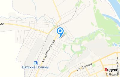Местоположение на карте пункта техосмотра по адресу Кировская обл, г Вятские Поляны, ул Тойменка, д 3Г
