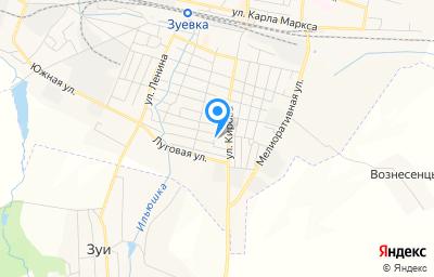 Местоположение на карте пункта техосмотра по адресу Кировская обл, г Зуевка, ул Кирова, д 55, пом 1004