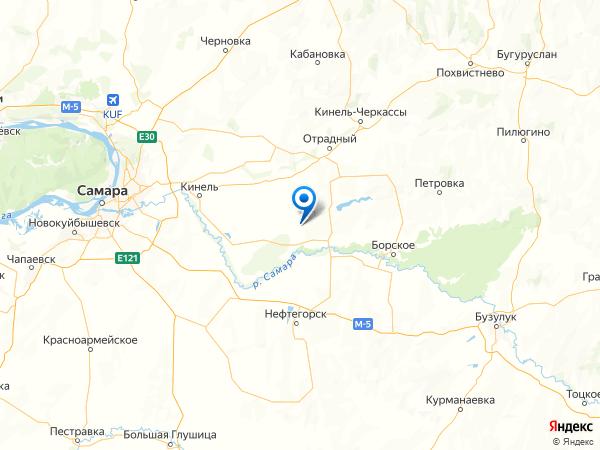 село Тростянка на карте
