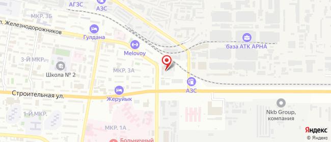 Карта расположения пункта доставки 3Б микрорайон в городе Актау