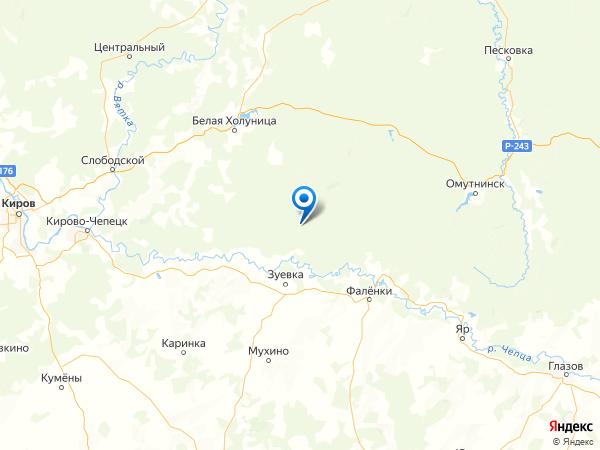 поселок Талица на карте