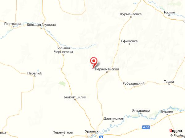 поселок Ленинский на карте