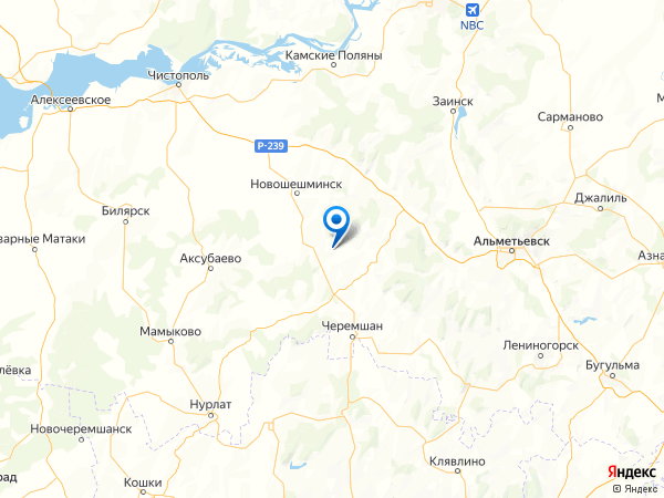 село Аккиреево на карте