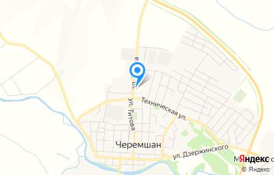 Местоположение на карте пункта техосмотра по адресу Респ Татарстан, с Черемшан, ул М.Титова, д 26А