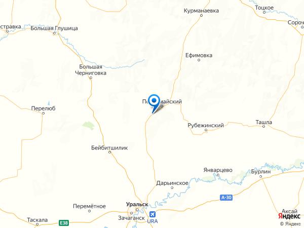 поселок Маевка на карте