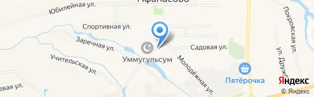 Культурно-спортивный центр на карте Большого Афанасово