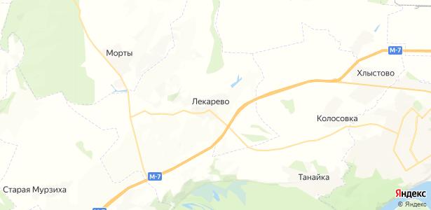 Лекарево на карте