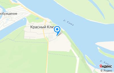 Местоположение на карте пункта техосмотра по адресу Респ Татарстан, Нижнекамский р-н, п Красный Ключ, ул Лесная, зд 24А/2