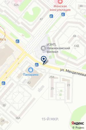 АВТОСТОЯНКА № 6 на карте Нижнекамска