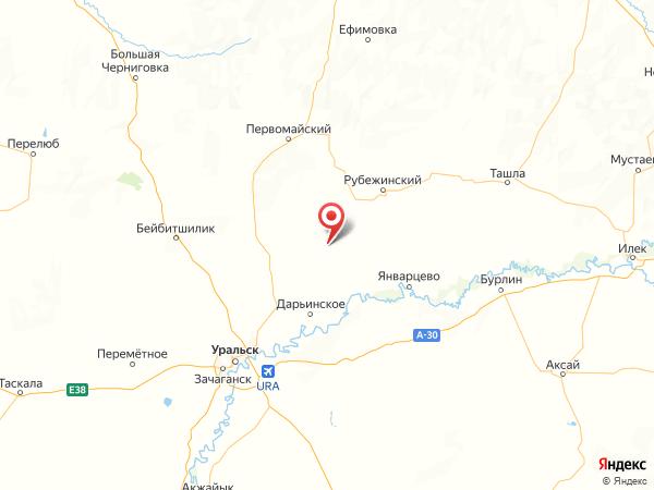 село Раздольное на карте