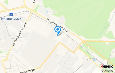 Местоположение на карте пункта техосмотра по адресу Респ Татарстан, г Нижнекамск, тер БСИ