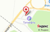 Схема проезда до компании АЗС Tatneft в Нижнекамске