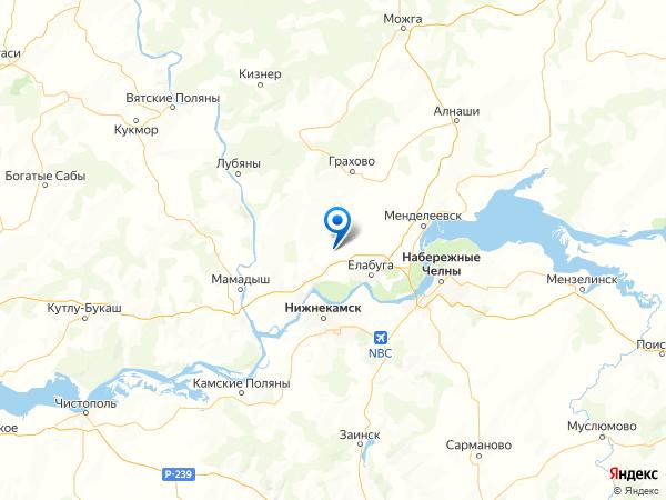 посёлок Малореченский на карте