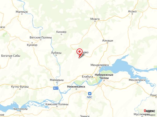 деревня Благодатное на карте