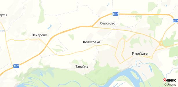 Колосовка на карте