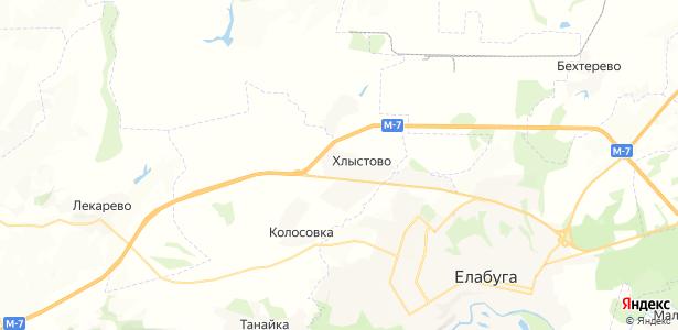 Хлыстово на карте