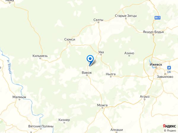 поселок Малая Можга на карте