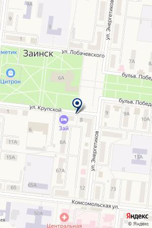 ЗАИНСКИЙ ФИЛИАЛ РОСГОССТРАХ-ТАТАРСТАН на карте Заинска