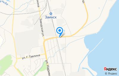 Местоположение на карте пункта техосмотра по адресу Респ Татарстан, г Заинск, ул Автодорожная, д 12