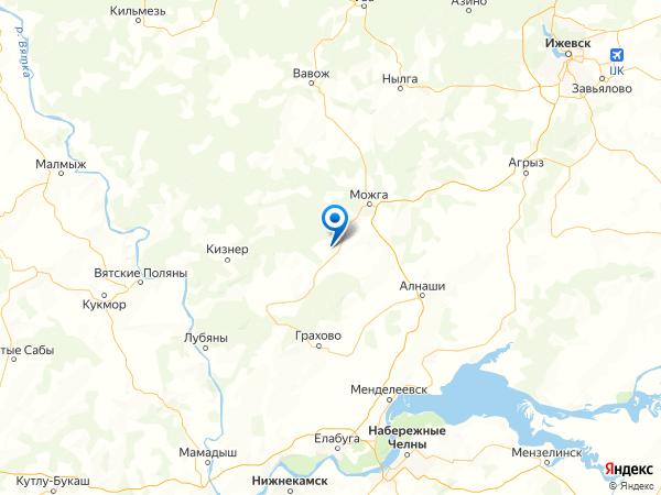 село Поршур на карте