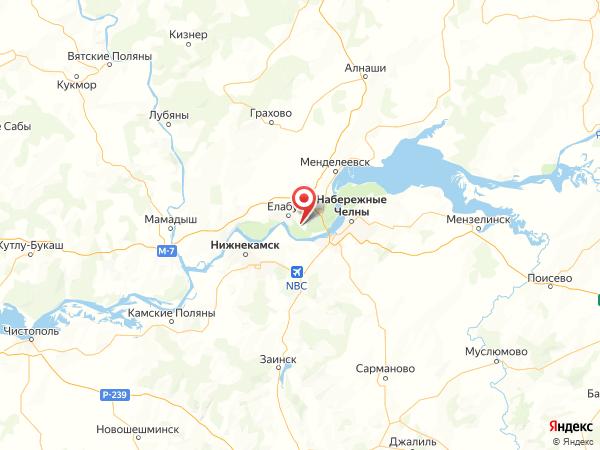 СНТ Ананьино на карте