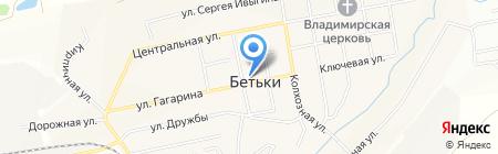 Продуктовый магазин на ул. Гагарина на карте Бетьков