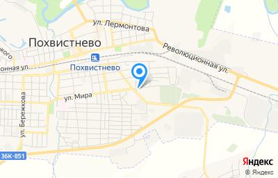 Местоположение на карте пункта техосмотра по адресу Самарская обл, г Похвистнево, ул Мира, д 62