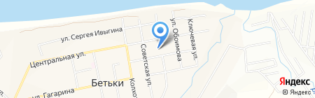 Бетькинская средняя общеобразовательная школа на карте Бетьков
