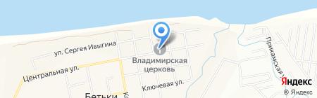 Храм в честь Владимирской иконы Божией Матери на карте Бетьков
