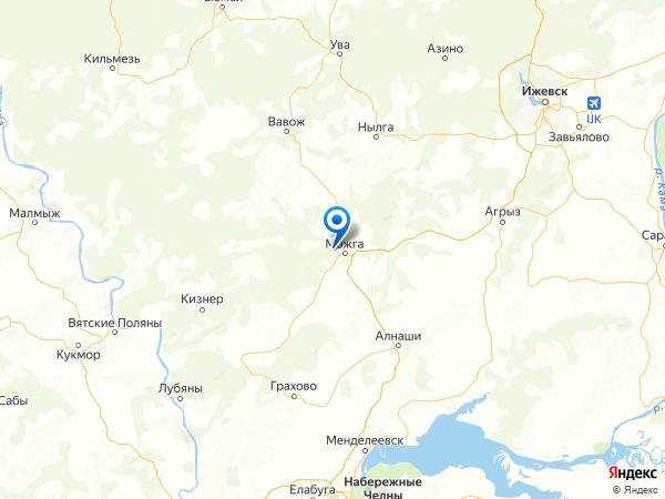деревня Залесный на карте
