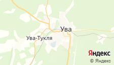 Отели города Ува на карте