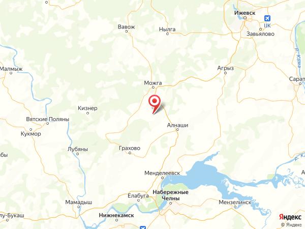 деревня Новопольск на карте