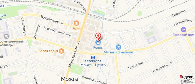 Карта расположения пункта доставки Можга Базарная в городе Можга