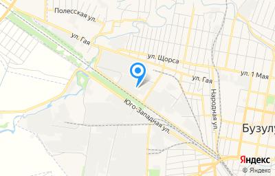 Местоположение на карте пункта техосмотра по адресу Оренбургская обл, г Бузулук, ул Фрунзе, д 8