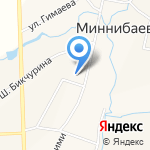 Миннибаевская средняя общеобразовательная школа на карте Альметьевска