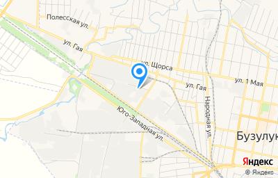 Местоположение на карте пункта техосмотра по адресу Оренбургская обл, г Бузулук, ул Луговая, д 2, пом 3