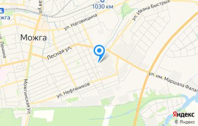 Местоположение на карте пункта техосмотра по адресу Респ Удмуртская, г Можга, ул Фалалеева, д 2