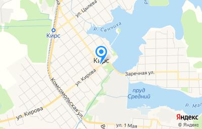 Местоположение на карте пункта техосмотра по адресу Кировская обл, г Кирс, ул Сельхозэнерго, д 1